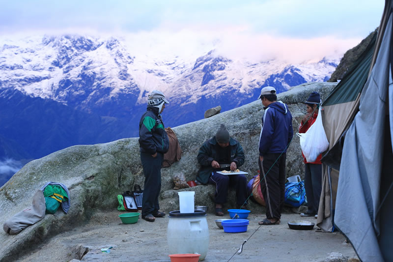 cocinero camino inca Machu Picchu