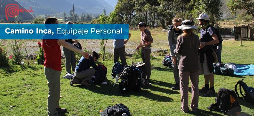 equipaje grupal camino inca
