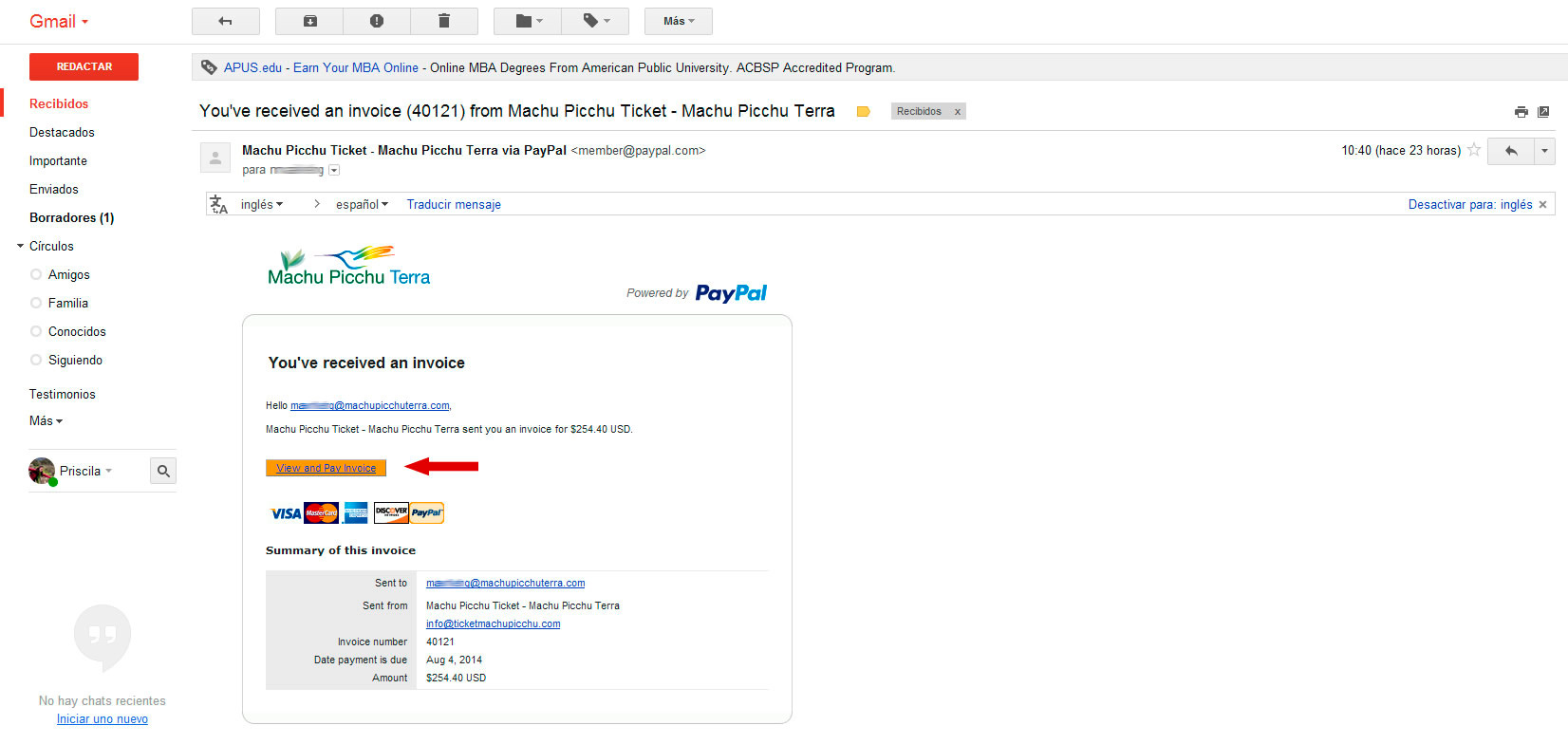 invoice paypal