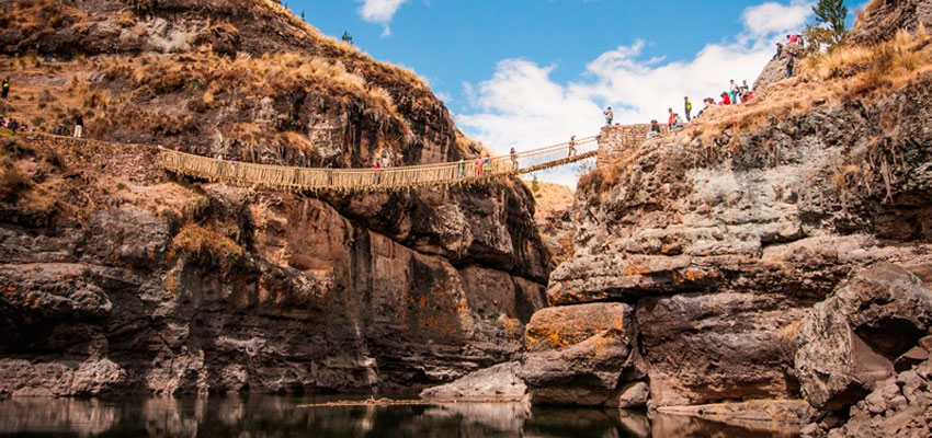 puente colgante inca