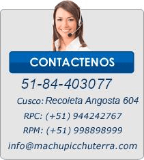 Contactenos Camino Inca