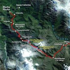 Camino Inca Mapas Detallados