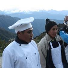 Nuestros cocineros en el Camino Inca