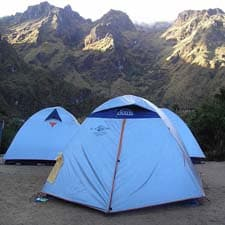 Campamento en el Camino Inca