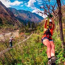 Caminata Inca Jungle – Canopy a Machu Picchu 4 días