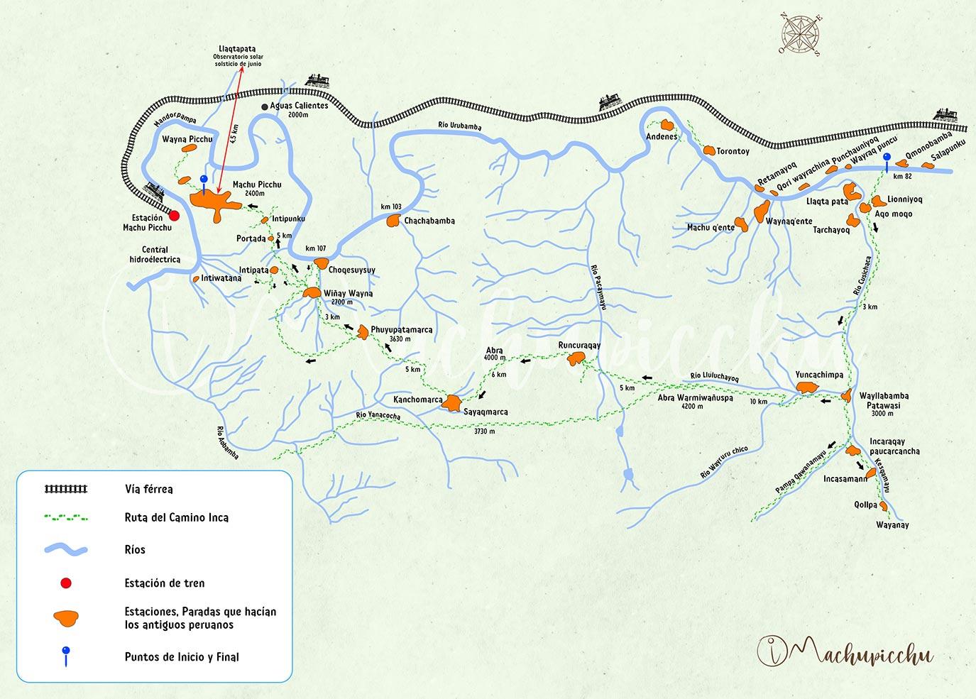 Ruta del Camino Inca Clásico